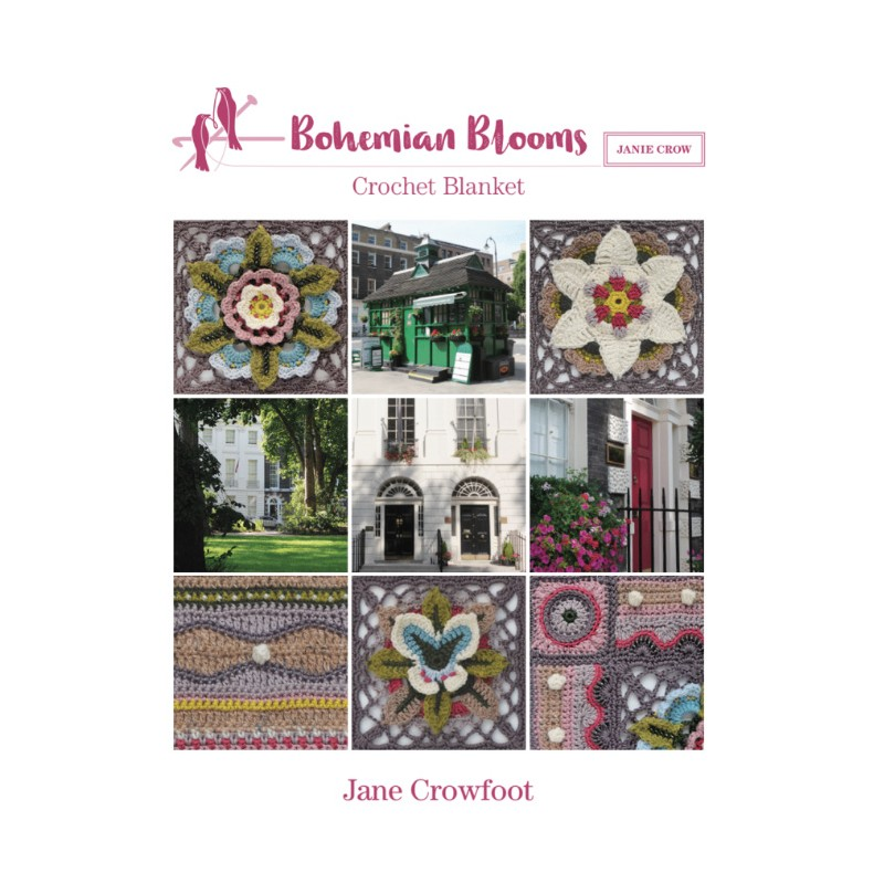 Jane Crowfoot Bohemian Blooms Pattern Book Viridian Yarn