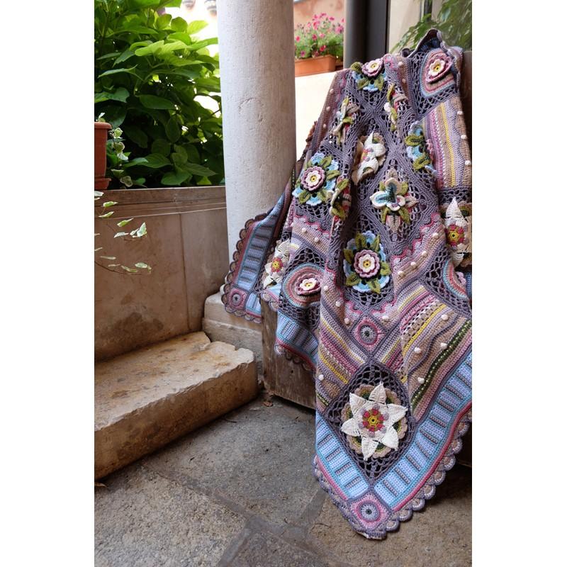 Jane Crowfoot Bohemian Blooms Pattern Book Viridian Yarn